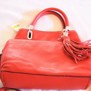 Vince Camuto Red Leather Hobo Bag
